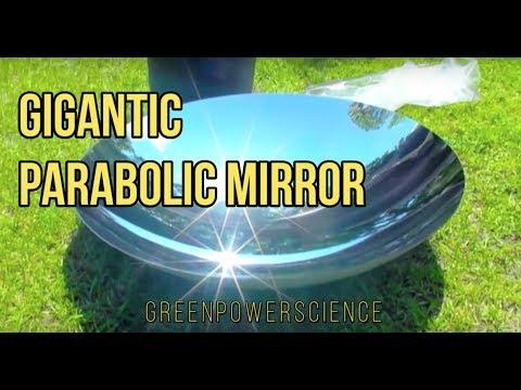 SOLAR COOKING: Parabolic Mirror Solar Stove