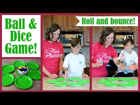 DICE GAME: Bounce by the Numbers! | Party Games by Family Fun Every Day