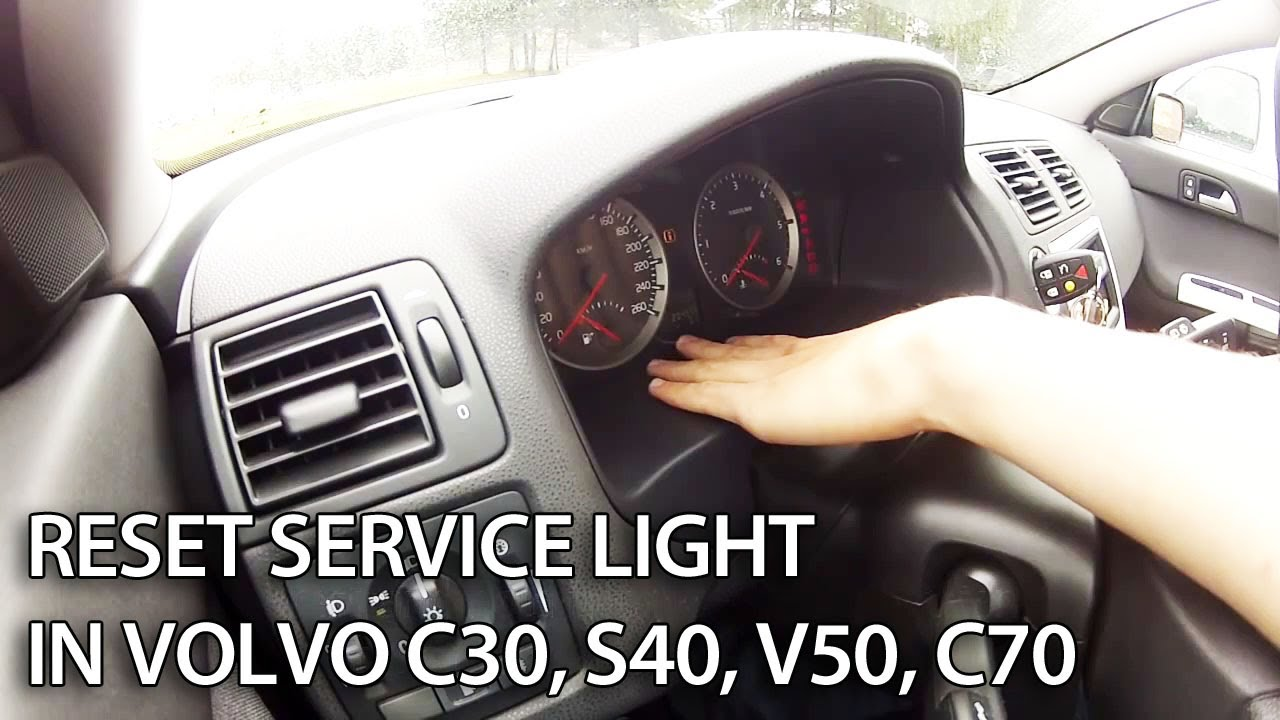 How to reset SRI service reminder indicator in Volvo V50 S40 C30 C70 S60 S80 V70 (SRL ...