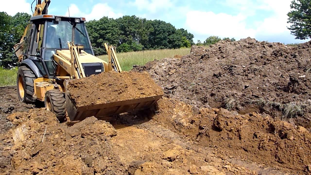 Case 580l Turbo Digging Pond Youtube