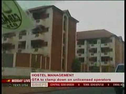 Midday Live  - Ghana Tourism Authorithy to clamp down unlicensed hostels -16/1/2014
