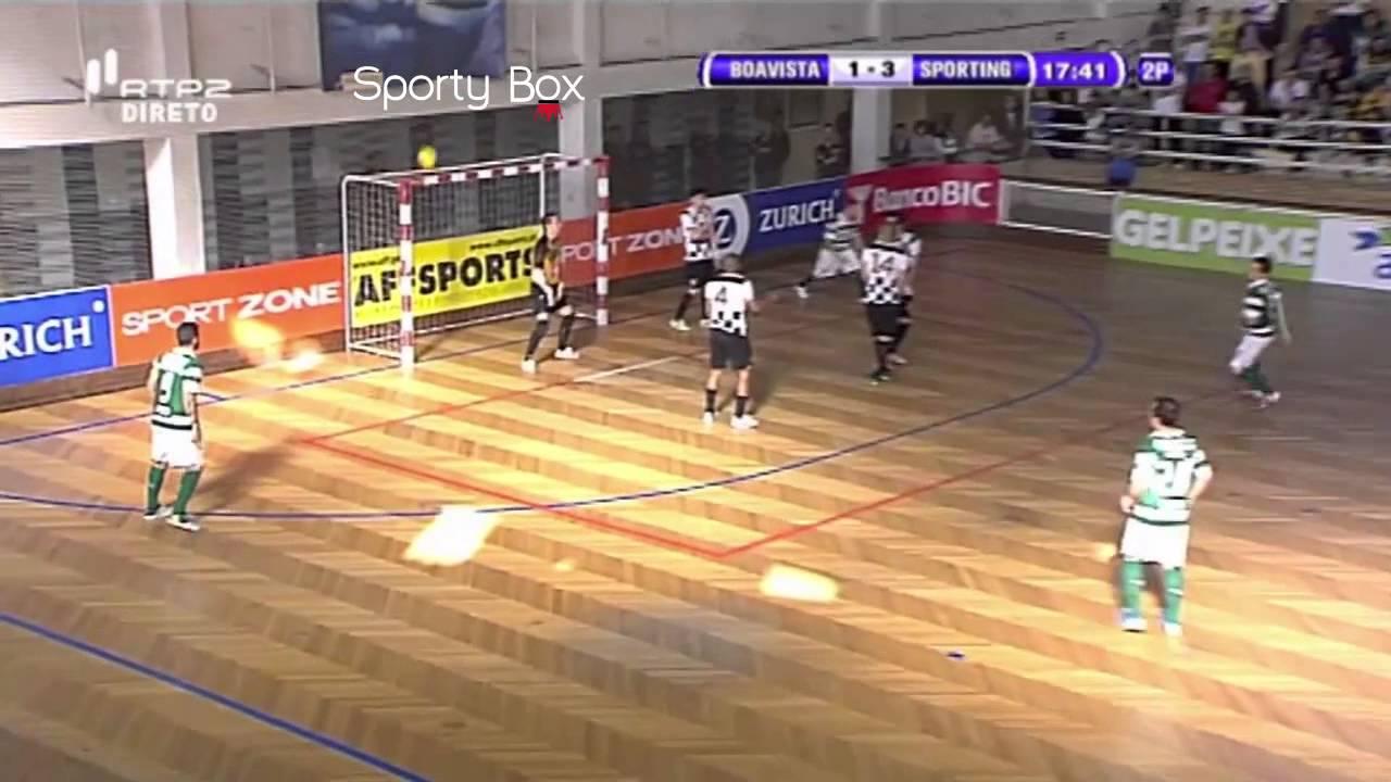Futsal :: Play-off QF 1º Jogo :: Boavista - 1 x Sporting - 6 de 2013/2014