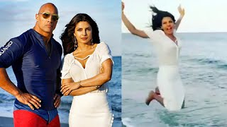 the rock, priyanka chopra hot scenes in baywatch, bay watch hot scene
