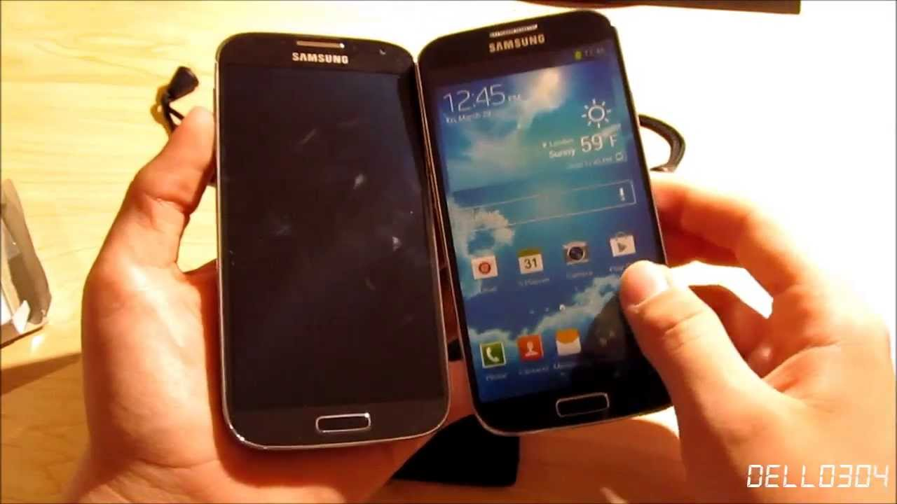 and Comparison: Replica/Display Model Samsung Galaxy S4 - YouTube