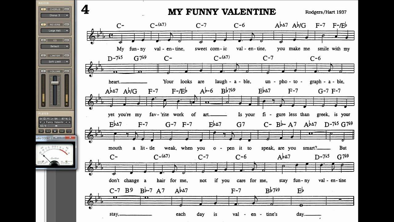 my funny valentine lyrics: