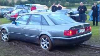 Audi 100 C4/S4 Quattro pfl�gt Wiese um videos