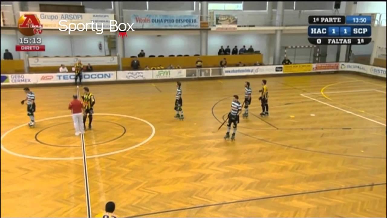 Hoquei Patins :: 03J ::  HA Cambra - 2 x Sporting - 4 de 2013/2014