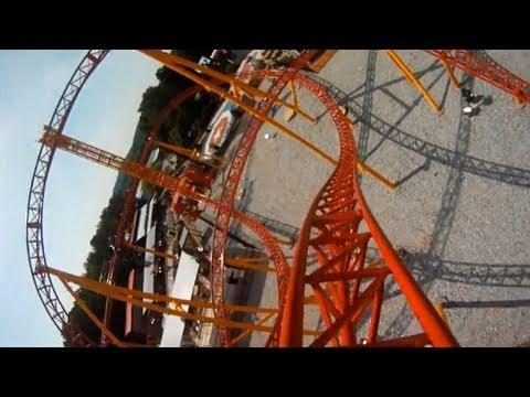 Dare Devil Dive REAL POV Front Seat Onride Roller Coaster Six Flags Over Georgia SFOG HD