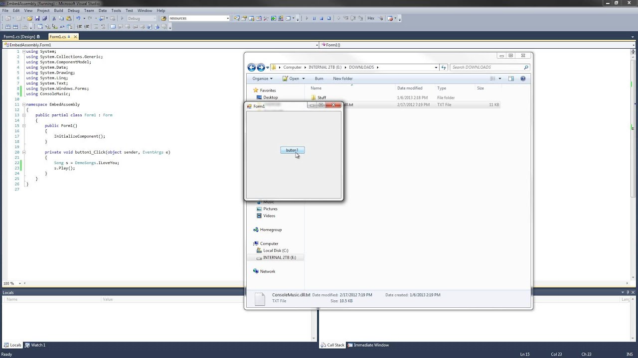 C# How To Embed And Reference An External Assembly (DLL ...