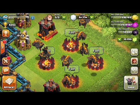 LAVA HOUND - Gemming to MAX - Gameplay / LIVE attack - Epic fail - english