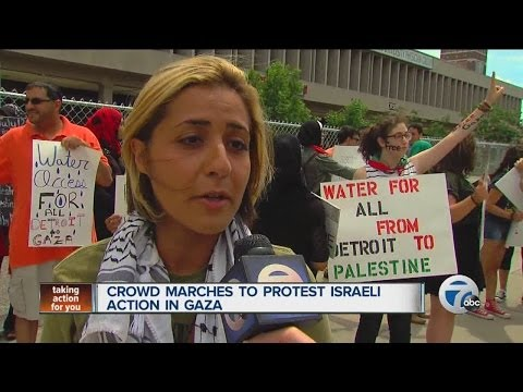 Mike Woolfox covers Palestine protest in Detroit