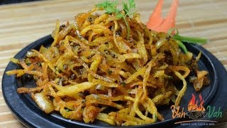 Onion Potato Salli ..