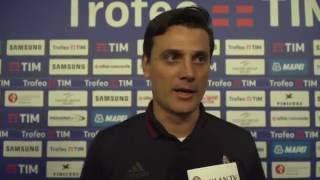 Trofeo TIM, Milan TV exclusive: Montella