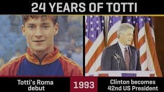 How the world has changed since Totti made his Roma debut