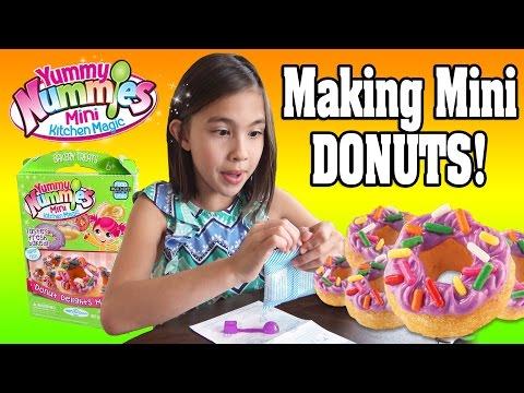 YUMMY NUMMIES KITCHEN MAGIC!!! Making Mini Donuts with Water!