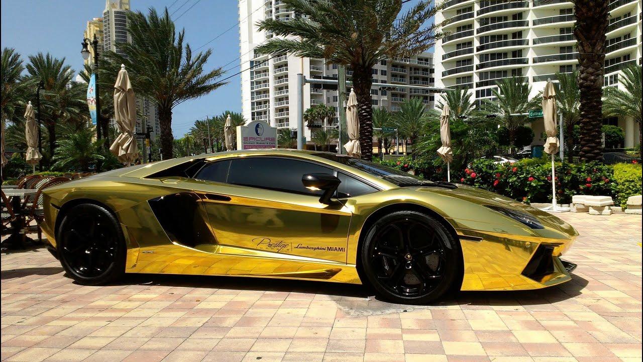 Mclaren P1 Cost >> First Gold Plated Lamborghini Aventador LP700-4 Better ...