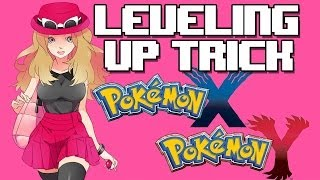 Pokemon X/Y Level Up Trick (Quick Ball Method) Leveling