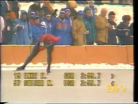 Olympic Winter Games Sarajevo 1984 – 3 km Karin Enke – Nancy Swider