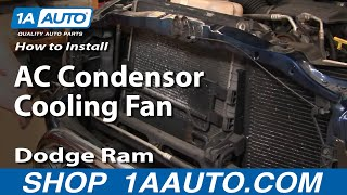 How To Install Repair Replace Part 1 AC Condensor Cooling
