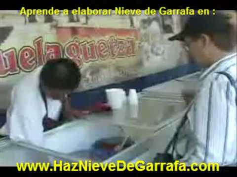 Nieve de Garrafa, la historia de la nieve Artesanal.