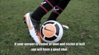 Soccer Shooting Tips : Point Of Contact