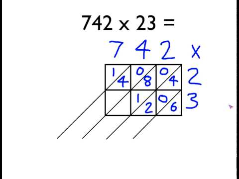 Gelosia method of multiplication youtube for 13 times table trick