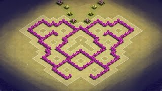 Clash Of Clans TH6 Trophy And Clan War Base (Butterfly