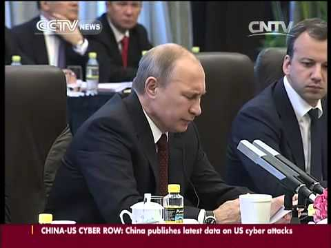 Chinese, Russian presidents hold talks in Shanghai