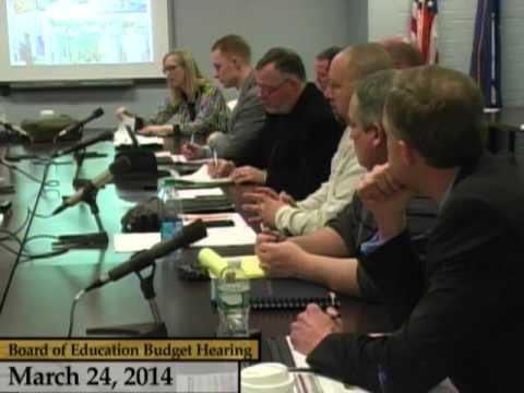 Enfield, CT, USA - Board of Education Budget Discussion - March 24, 2014