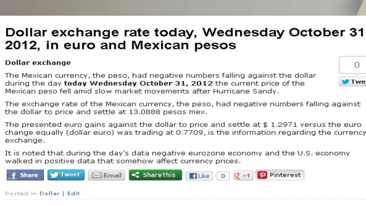 Forex exchange peso to dollar