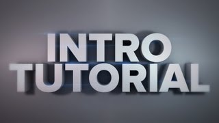 Intro/Animation Tutorial Cinema 4d. Part1