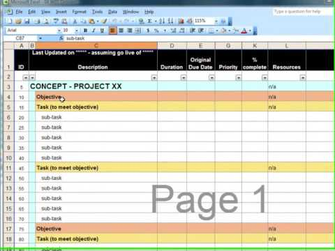 Creating a Work Breakdown Structure in Microsoft Project