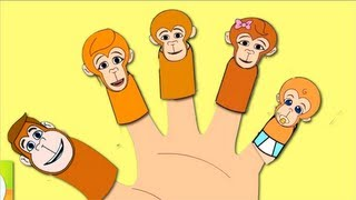 The Finger Family (Monkey's Family) Nursery Rhyme | Kids Animation Songs For Children