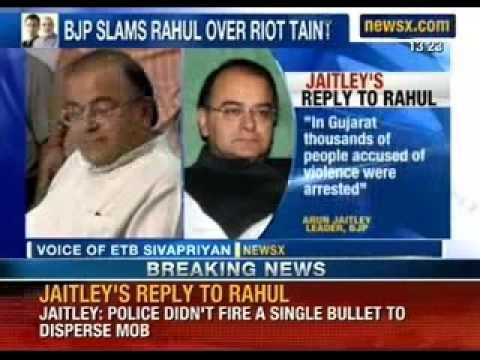 Breaking News: Arun Jaitely slams Rahul Gandhi's defence in 1984 riots case - NewsX