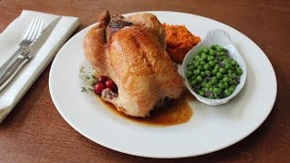 """Cranberry Stuffed Game Hens - """"Micro Turkeys"""" with Walnut & Cranberry Stuffing"""