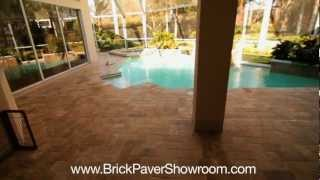 How To Install A Travertine Paver On Patio And Pool Deck