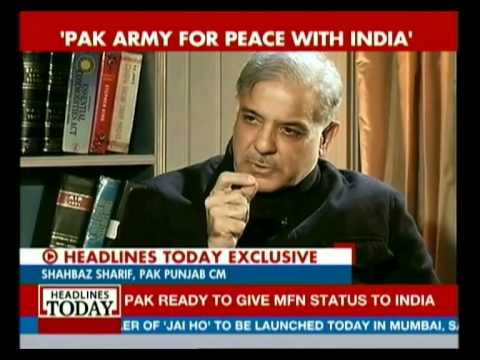 Pak Punjab CM Shahbaz Sharif speaks to Headlines Today