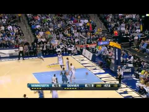 NBA CIRCLE - Minnesota Timberwolves Vs Denver Nuggets Highlights 9 March 2013 www.nbacircle.com