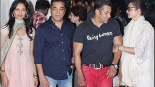Kamal Haasan, Salman Khan and Rekha at Viswaroopam Spl Screening