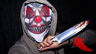 CREEPY KILLER CLOWN HALLOWEEN SCARE PRANK ON MY MUM! 😮 *UNEXPECTED ENDING*