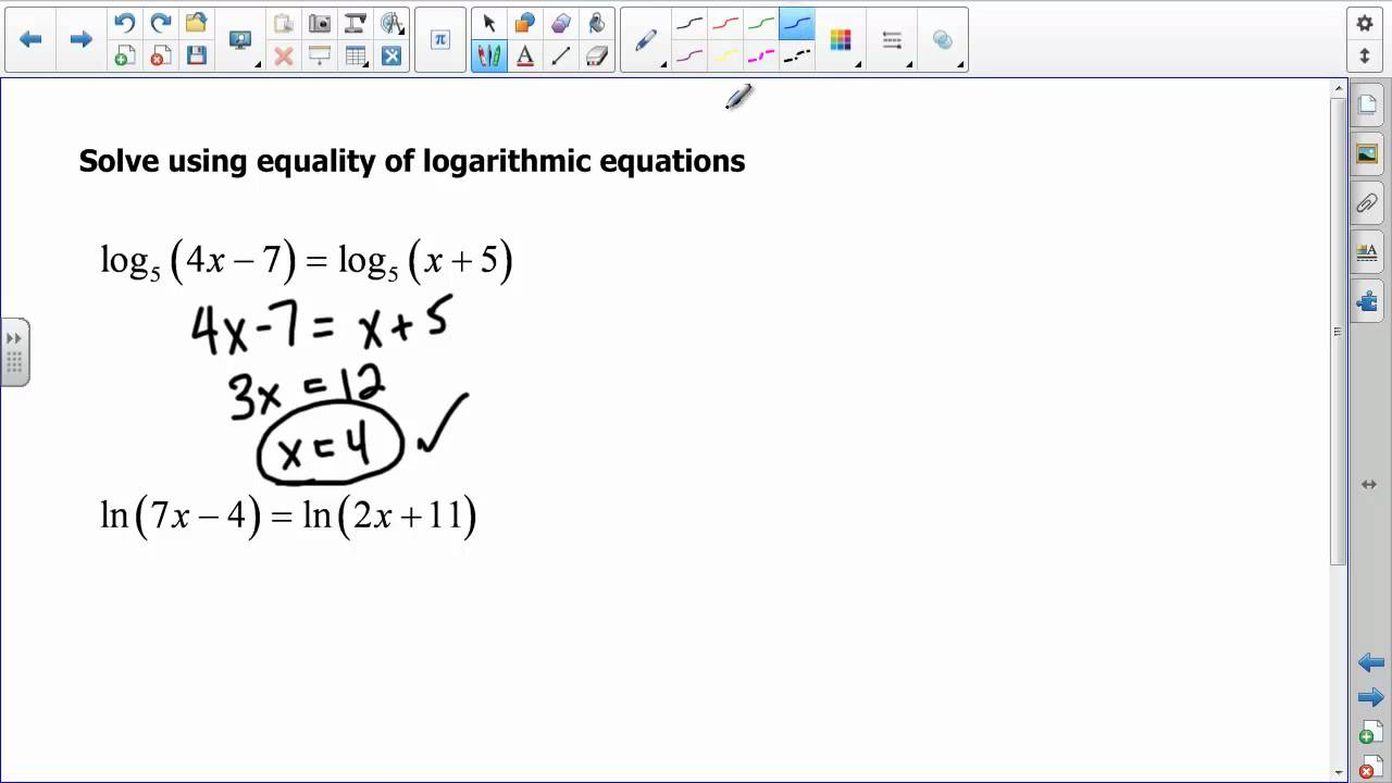 Free Worksheet Exponential And Logarithmic Equations Worksheet algebra log special logarithms logarithm graph of x 2 solving exponential logarithmic equations youtube