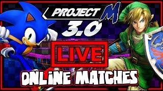 Super Smash Bros Brawl Project M Online Matches *LIVE