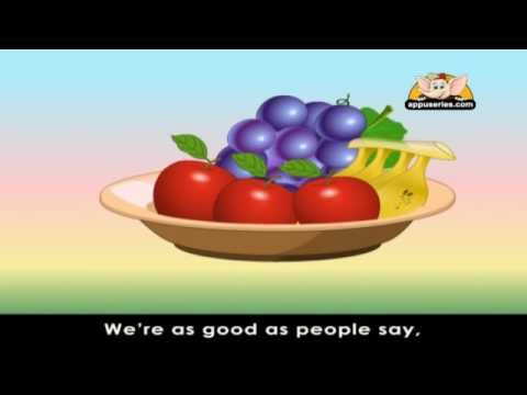 Rhymes for Learning English - Fruits