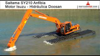 Impresionantes Excavadoras Anfibias