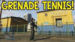 GTA 5 Online Grenade Tennis! (Grand Theft Auto: V)