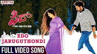 fidaa-movie-edo-jaruguthondi-full-video-song