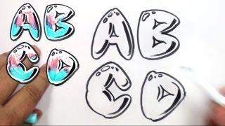 Graffiti Letters Alphabet Bubble Letters Alphabet A B C