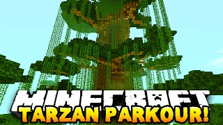 Minecraft TARZAN PARKOUR RACE! W/PrestonPlayz & Kenny