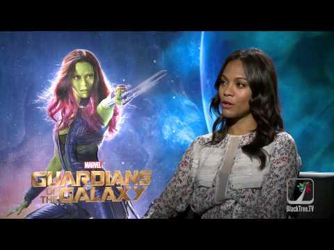 Zoë Saldana interview for Guardians of the Galaxy