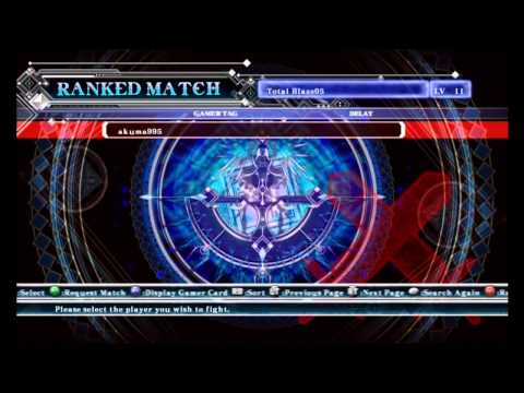 BlazBlue Coninuum Shift Extend Online Matches 1-4 (The Big Red Machine!)